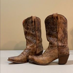 Dan Post Distressed Cowboy Boots Western Size 9